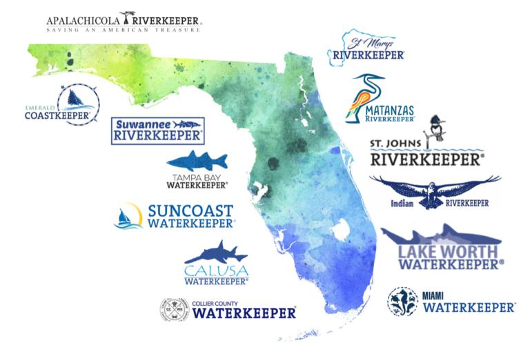 Logos of Waterkeepers Florida