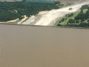 flooded pensacola dam