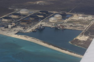 Roofs blown off five oil storage tanks on STATOIL/Equinor storage site on Grand Bahama. (One of the tanks was without a roof before Dorian.)