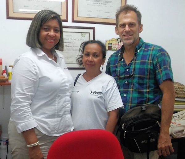 Elizabeth Ramirez (center) with Gary Wockner and one of Elizabeth's university colleagues.