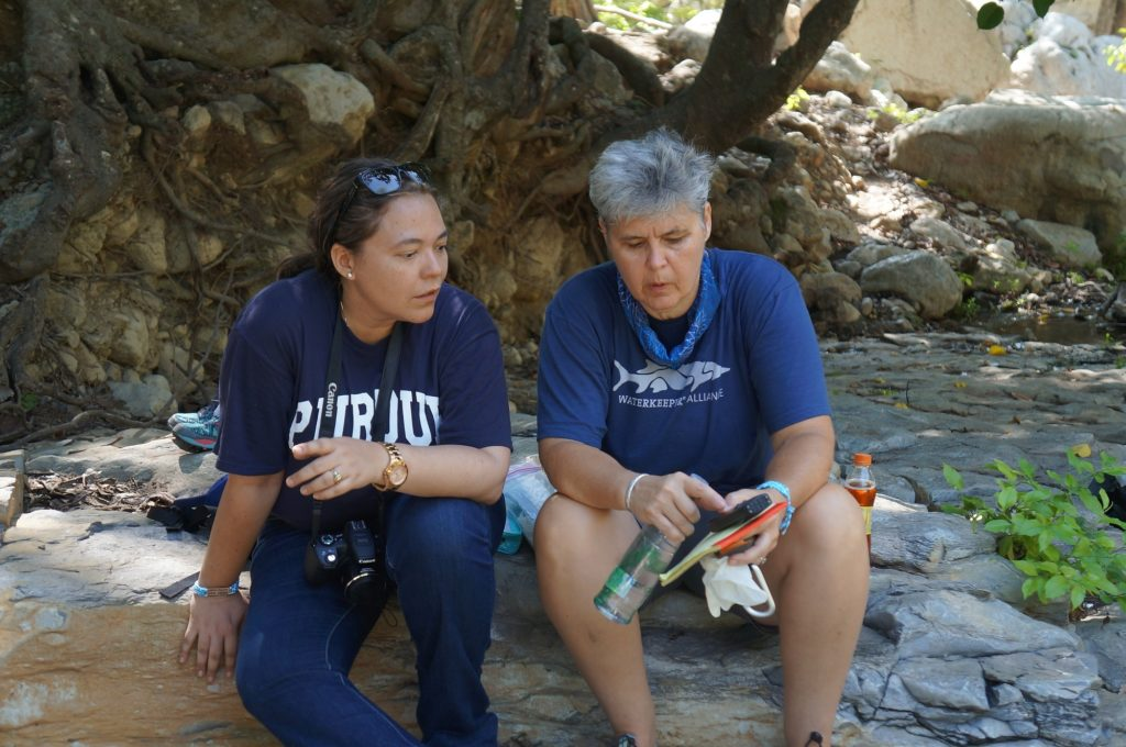 Colombia Waterkeeper Liliana Guerrero, left, and Donna Lisenby, Waterkeeper Alliance's Clean and Safe Energy campaign manager, are working together in the defense of poor and indigenous Colombian communities whose lands and water are being poisoned by multinational coal companies.