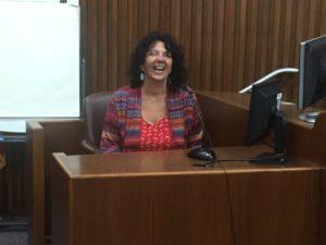 San Antonio Bay Estuarine Waterkeeper Diane Wilson on the witness stand
