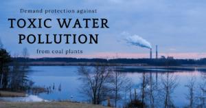 contaminación del agua tóxica elg de carbón