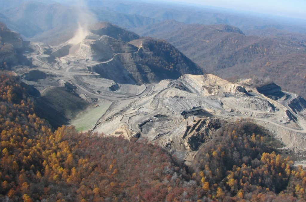 Mountaintop removal by Frasure Creek Mining, which had submitted more than 100 false water pollution monitoring reports to the state from its Kentucky coal mines.
