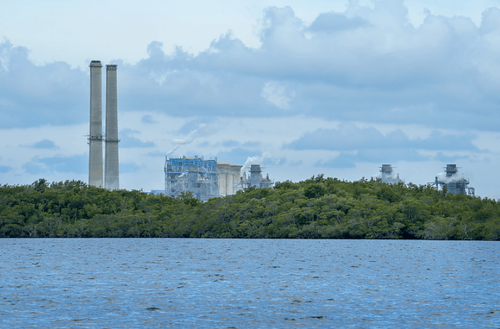 The Turkey Point Nuclear Generating Station beside Biscayne Bay National Park.