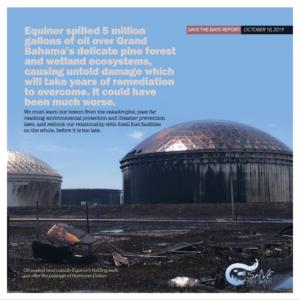 Equinor oil pollution in field.|