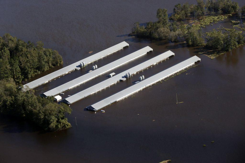 Aftermath of Hurricane Matthew.