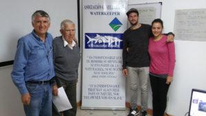 Patricio, Rafael, Juan Francesco, and Fernando -- the Guayllabamba Waterkeeper family.