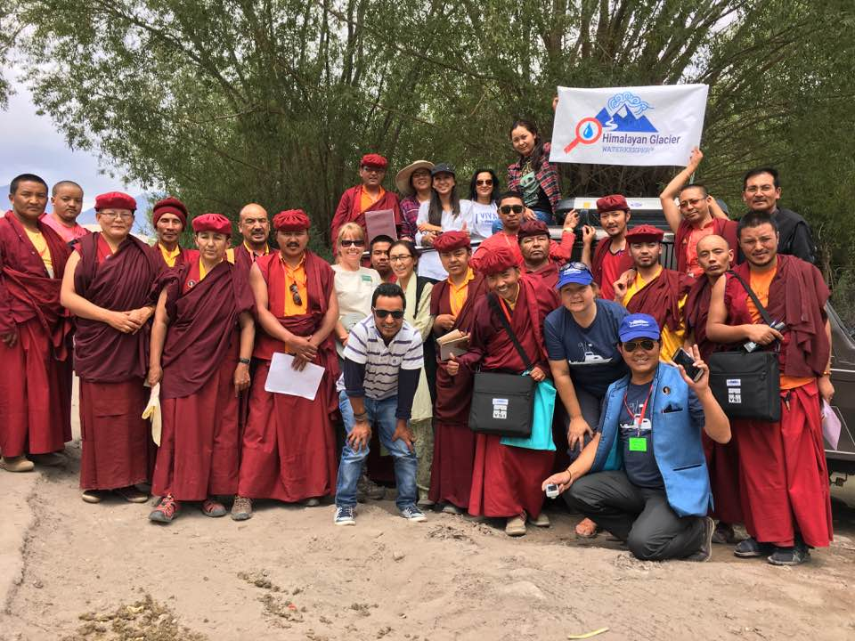 Staff from Himalayan Glacier Waterkeeper and its affiliates during training in water-quality monitoring in Ladakh, India.