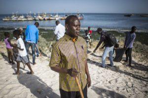 Hann Baykeeper Mbacke Seck on Hann Bay