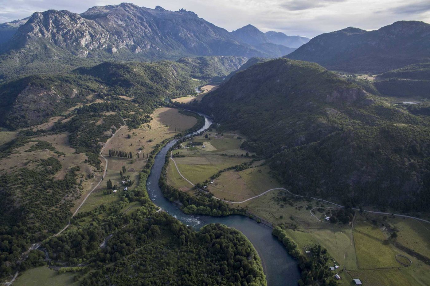 Arial view of Futaleufú River