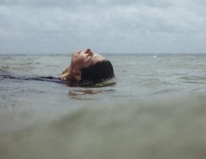 Miami Waterkeeper Rachel Silverstein in the water