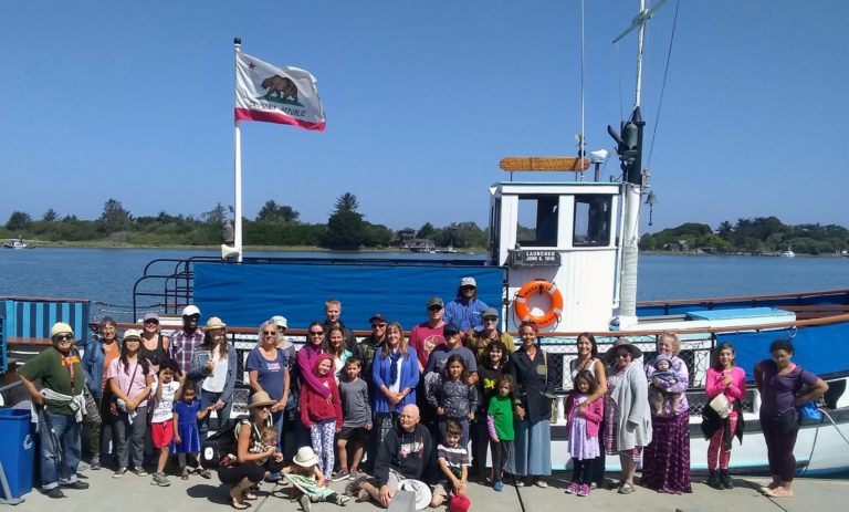 The Humboldt County Public Library's 2019 Summer Reading Tour offered an end-of-summer tour of Humboldt Bay aboard the historic H/V Madaket for participants and their families.