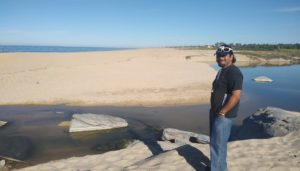 Roger at the lagoon and beach in Todos Santos