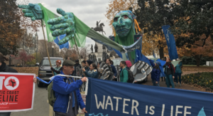 Pipeline protest by Shenandoah Riverkeeper