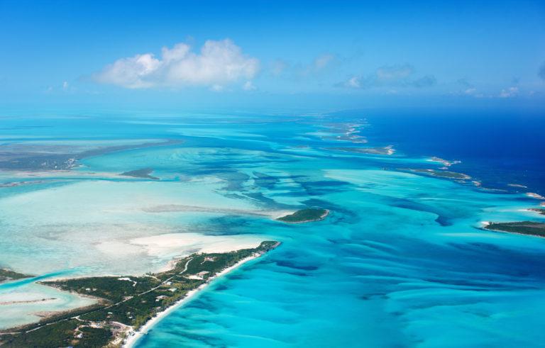 Vista al mar de las Bahamas